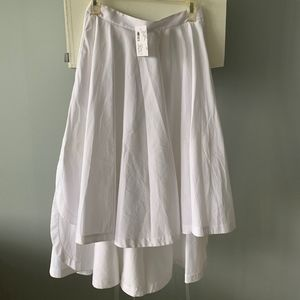 NWT from Intermix High Low White Skirt Size 0
